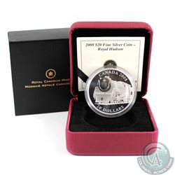 2008 $20 Great Canadian Locomotives - Royal Hudson Fine Silver Coin (TAX Exempt)