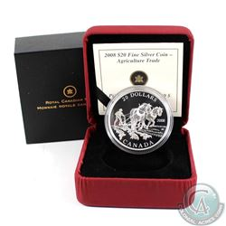 2008 Canada $20 Fine Silver Coin - Agriculture Trade Fine Silver Coin (TAX Exempt)