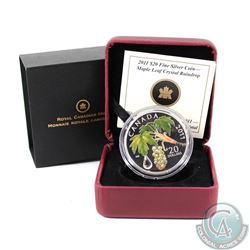 2011 Canada $20 Maple Leaf Crystal Raindrop Fine Silver Coin (TAX Exempt)
