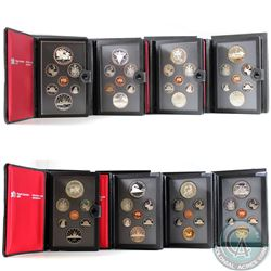 1981, 1982, 1983, 1984, 1985, 1986, 1988, 1989 Canada Proof Double Dollar sets. Please note coins ma