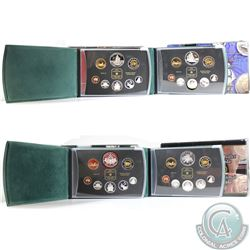 1998, 1999, 2000, & 2001 Canada Proof Double Dollar Sets. Please note coins may be toned. 4pcs.