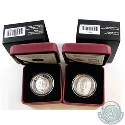 2013 Canada $25 Grandmother Moon Mask & 2014 Canada $25 Matriarch Moon Mask Fine Silver Coins (Tax E