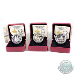 2014 Canada $15 Exploring Canada Fine Silver Coin Collection (TAX Exempt). You will receive the foll