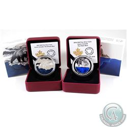 2016 Canada $20 Iconic Polar Bear & 2017 Canada $20 Iconic Grizzly Bear Fine Silver Coins (Tax Exemp