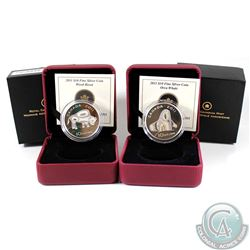 2011 Canada $10 Orca & Wood Bison Fine Silver Coins (Tax Exempt) 2pcs.