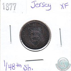 1877 Jersey 1/48th Shilling Extra Fine