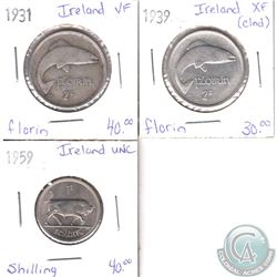 Lot of 3x Irish Coinage Dated 1931-1959 in VF to UNC. 3pcs