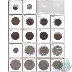 Estate Lot of 18x Great Britain Coinage Dated 1887-1972 in Plastic Page. 18pcs