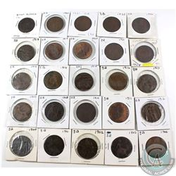 Estate Lot of 25x Great Britain Pennies Dated 1900-1936. 25pcs