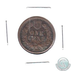1872 USA 1-cent VF-EF (Corrosion)