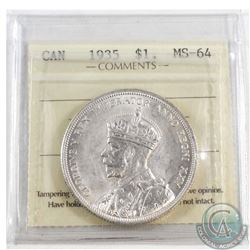 1935 Canada Silver $1 ICCS Certified MS-64