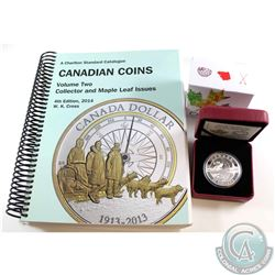 2014 $25 O Canada - The Arctic Fox and the Northern Lights (coin has small scratch). TAX Exempt *Inc