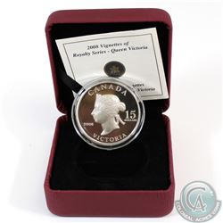 2008 Canada $15 Queen Victoria Vignettes of Royalty Sterling Silver Coin Encapsulated in Red RCM Dis
