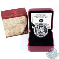 2013 Canada End of the 7 Years War Limited Edition Proof Silver Dollar (very light toning spot on ob
