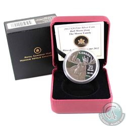 2012 Canada $20 Bull Moose by Robert Bateman Fine Silver Coin (TAX Exempt)
