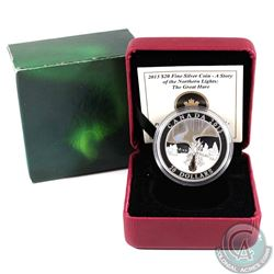 2013 Canada $20 Story of the Northern Lights: The Great Hare Fine Silver Coin (capsule lightly scrat