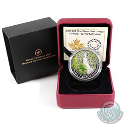 2014 $20 Canadian Maple Canopy - Spring Splendor Fine Silver Coin (TAX Exempt)
