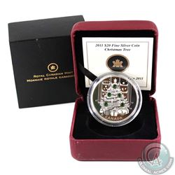 2011 Canada $20 Christmas Tree Fine Silver Coin (outer cardboard sleeve lightly worn & capsule is sc
