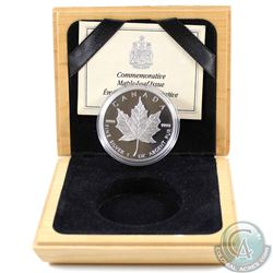1989 Canada Proof 1oz. Silver Maple Leaf in Wooden Box (missing outer cardboard sleeve & capsule has