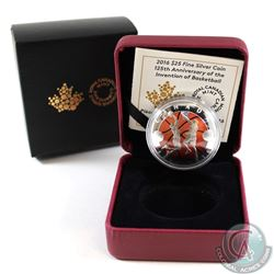 2016 Canada $25 125th Anniversary of the Invention of Basketball Fine Silver (TAX Exempt)