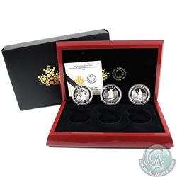 2015 Canada $5 Cornelius Krieghoff 200th Anniversary Fine Silver 3-Coin Set (No Tax)