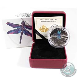 2017 Canada $20 Nature's Adornments - Dragonfly Fine Silver Coin (TAX Exempt)