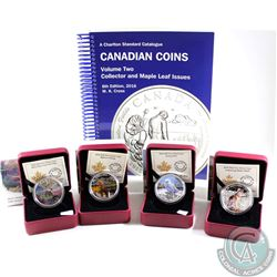 Lot of 4x Canada $20 Fine Silver Coins. You will receive 2015 Bighorn Sheep, 2015 Misty Morning Mule