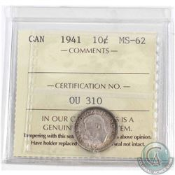 1941 Canada 10-cent ICCS Certified MS-62