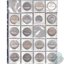 Estate Lot of 17x Canada Silver $1 Dated 1935-1938, 2x 1939, 1946, 1947 & 1949-1957. 17pcs