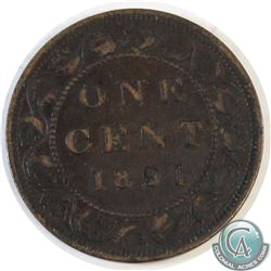 1891 Canada Large Cent Small Date Small Leaves F-12