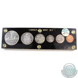 1959 Canada 6-Coin Proof Like Mint Year Set in Black Plastic Holder with Cameo Finish on some coins.