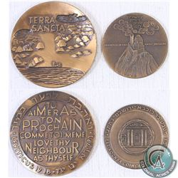 "2x "" State of Israel ""Love thy Neighbour as thy Self"" & ""Bar-Kochba, City of Jerusalem"" Medallions."
