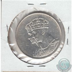 1939 Royal Visit to Canada Silver Commemorative Medallion. 32mm