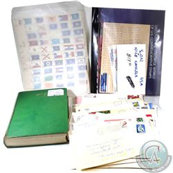 Estate lot of U.S.A. Pains, Blocks, Used and unused Vintage Stamps, Envelopes, S.O.N's Singles, Plat