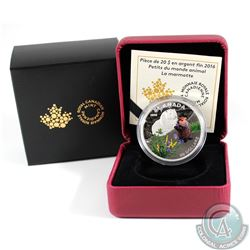 2016 Canada $20 Woodchuck Baby Animals Fine Silver Coin (TAX Exempt). Coin comes with all original m