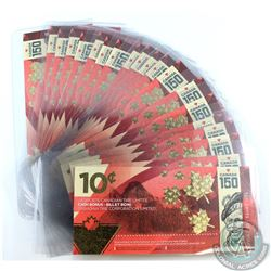 20 x Canadian Tire 150th anniversary of Canada 10c cash bonus coupons with consecutive serial number