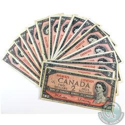 20 x 1954 $2.00 notes in average circulated condition.  20 pcs.