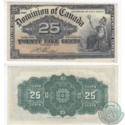 1900 25c note with Boville signature in high grade.  The note has one pinhole.