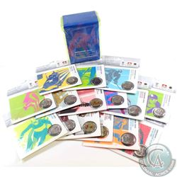 Complete set of Petro-Canada Vancouver Olympic 25-cent Coins in Sport Card Holder. You will receive