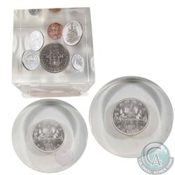 Canada Coin Collection in Acrylic Displays. You will receive two 1962 Dollars in acrylic, as well as