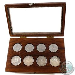 1939-1982 Canada Dollar Collection in handmade display case. You will receive the following dates, 1