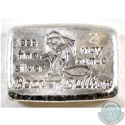 Beaver Bullion - 2oz Fine Silver Bar (Tax Exempt)