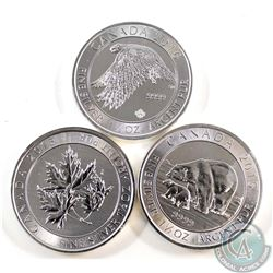 2015 & 2016 Canada $8 1.5 oz Fine Silver Coins (Tax Exempt). You will receive the 2015 Polar Bear an