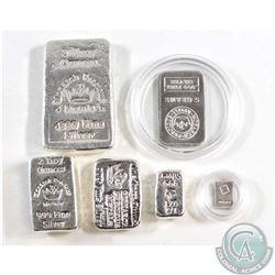 Lot of 6 Different Monarch Fine Silver Bars (TAX Exempt). You will receive the 1gram, 5 grams, 1/2oz