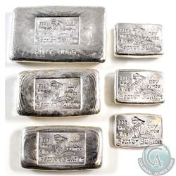 Lot of 6 Different Beaver Bullion Fine Silver Bars (TAX Exempt). You will receive the 1oz, 2oz, 3oz,