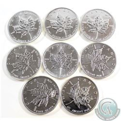 2000-2007 Canada $5 1oz Fine Silver Maples (TAX Exempt). You will receive one of each date between 2