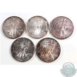 2001-2012 United States 1oz Fine Silver Eagles (TAX Exempt). You will receive the following dates, 2