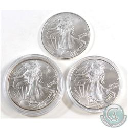1997, 2005, & 2016 United States 1oz Fine Silver eagles (TAX Exempt). Please note coins may have ton