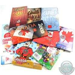 2000-2009 Canada Day 25-cent Collection in original Packaging. You will receive each date issued bet