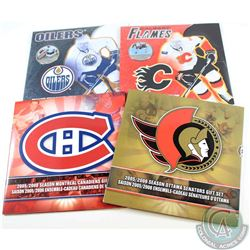 Lot of 2005-2010 RCM Hockey Gift sets. You will receive the following sets, 2005/2006 Ottawa Senator
